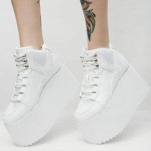 cd1087e758cf YRU Shoes - Y.R.U PURE QOZMO II Hi Top White Platform Sneakers